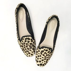 CLARKS Chia Milly Leopard Calf Hair Loafer
